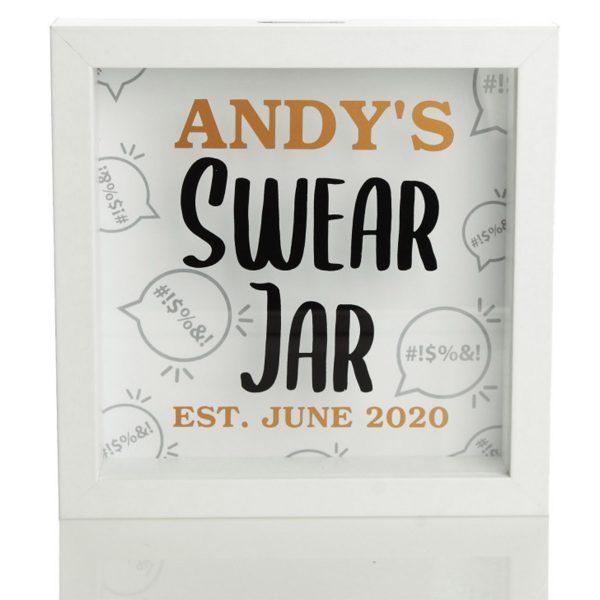 Personalised Andy's Swear Jar Money Box EST June 2020 Date