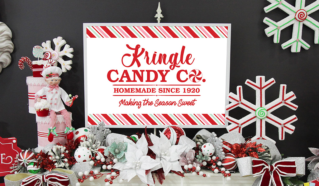 Peppermint Candy Christmas – Free Poster Download
