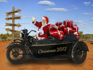 Christmas Fantasy Photo Motorbike