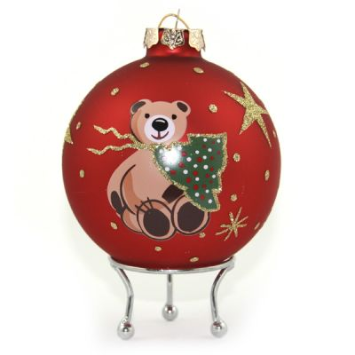 Red Christmas Bear Christmas Bauble