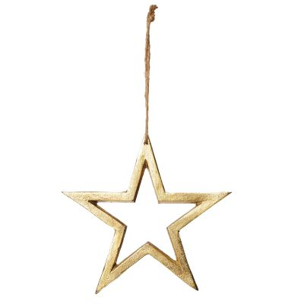 Antique Gold Aluminium Hollow Star - Large