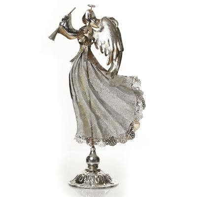 Antique Metal Angel Right