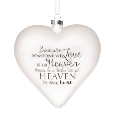 Personalised Frosted Glass Heart - Heaven in Our Home