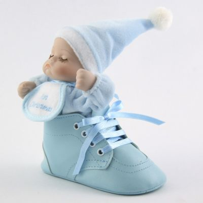 Blue Baby's 1st Christmas Bootie