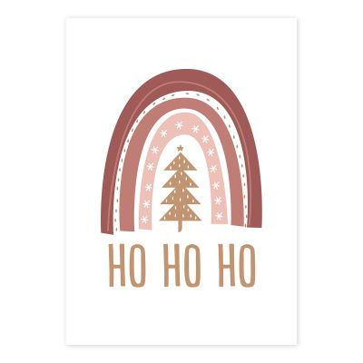 Bo Ho Ho Christmas Poster Print