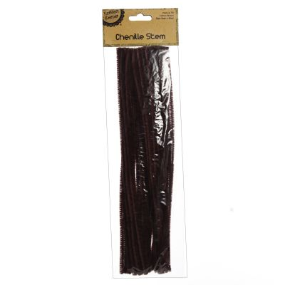 Brown Chenille Stem Pipe Cleaners - Pack of 50