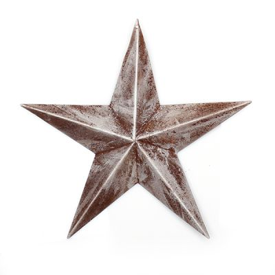 Brushed Silver Tin Star