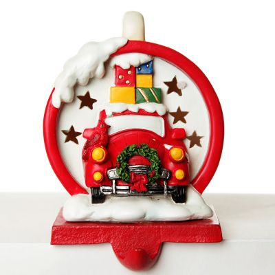 Car with Presents Light Up Stocking Hanger