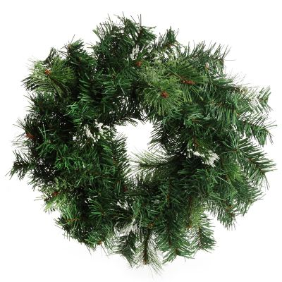 Cashmere Pine Wreath with Snow Tips