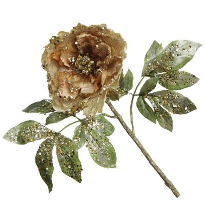 Champagne Peonie Flower with Glitter Sprinkles