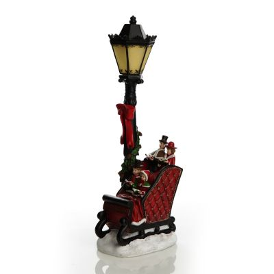 Choir in Sleigh with Lamp Post Lightup Ornament