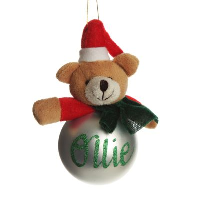 Christmas Character Plush Silver Teddy Bauble Whole product