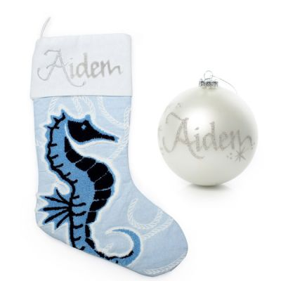 Coastal Seahorse Stocking and Bauble Pack