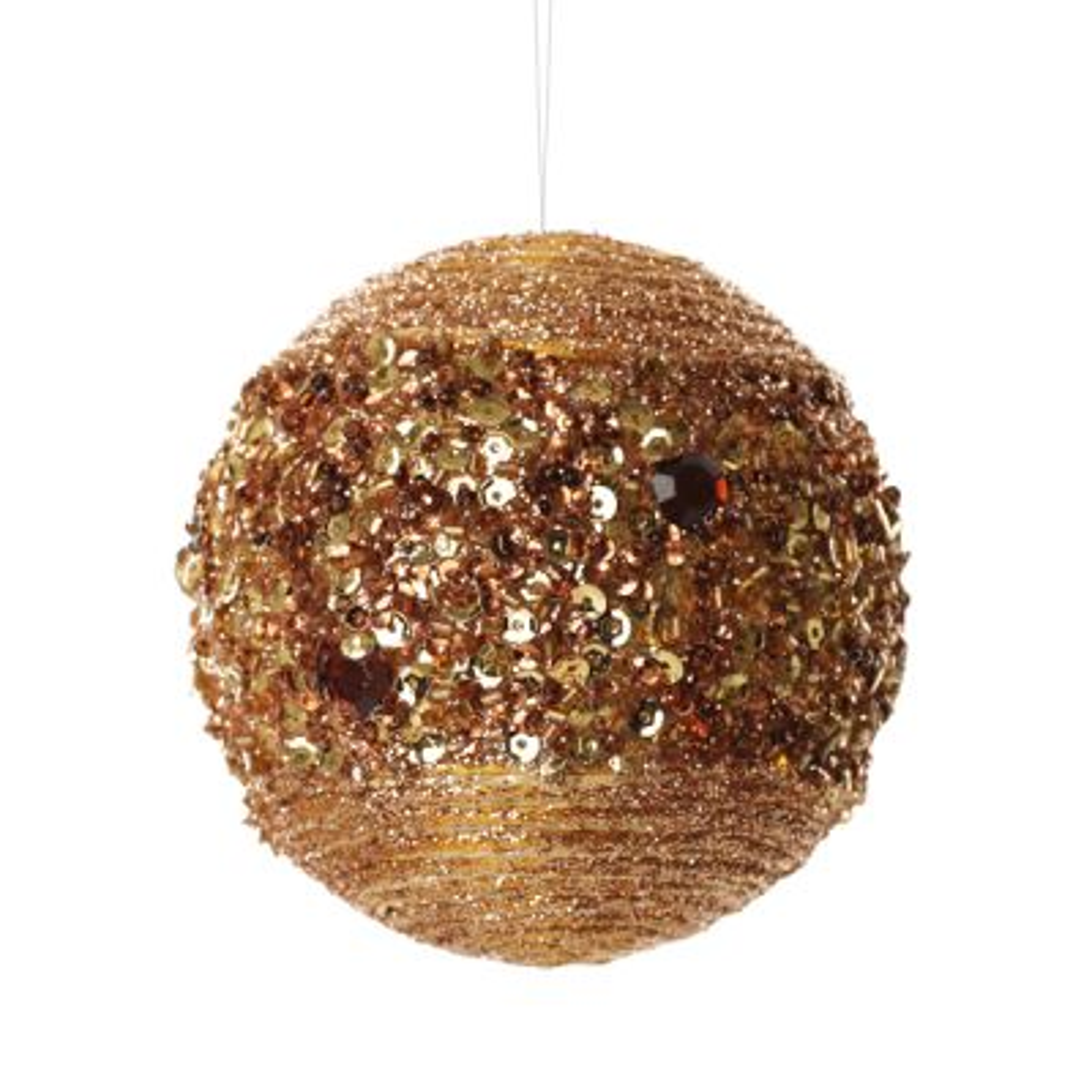 Copper Glitter Sequin Christmas Ball