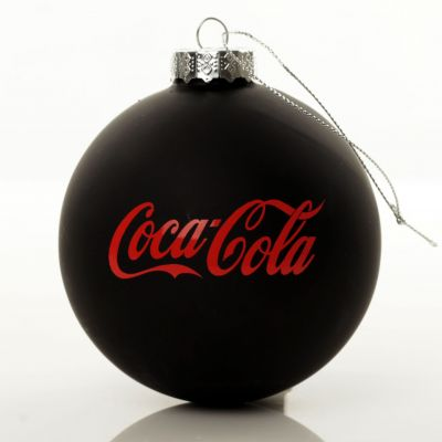 Customised Large Coloured Glass Logo Decal Bauble