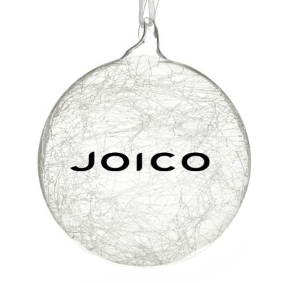 Customised Large Clear Glass Logo Decal Bauble