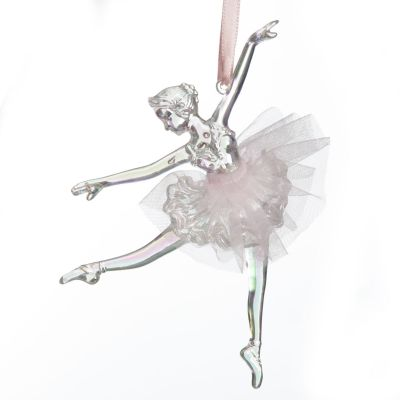 Dancing Ballerina Tree Decoration with Pink Tulle TuTu