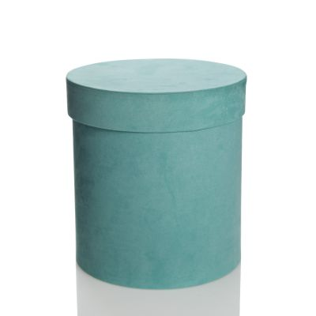 Deluxe Aqua Suede Round Giftbox