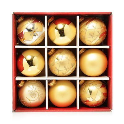 Deluxe Gold Glass Bauble Pack