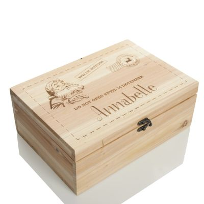 Personalised Do Not Open Wooden Christmas Eve Box