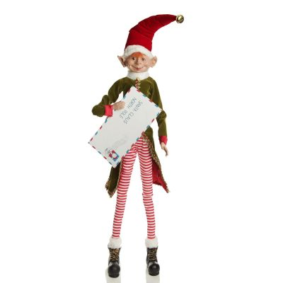 Elf with Mail Ornament