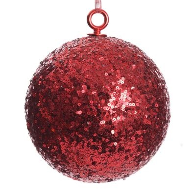 Extra Large Red Sequin Christmas Bauble