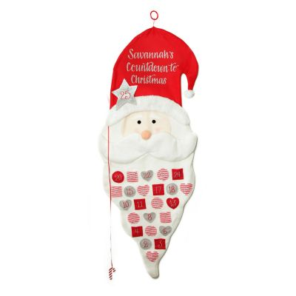 Personalised Felt Santa Advent Calendar Whole product