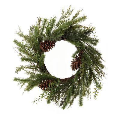 Fir and Pinecone Wreath