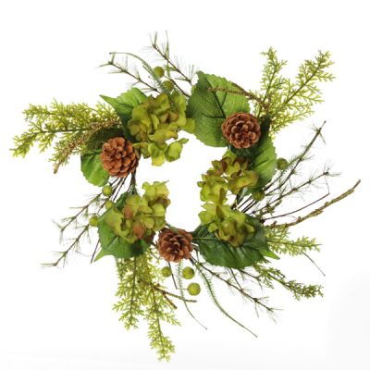 Small Fresh Hydrangea Christmas Wreath