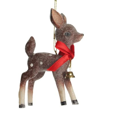 Frosted Standing Bambi Hanging Tree Decoration Whole Product