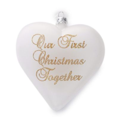 Frosted Glass Heart Ornament