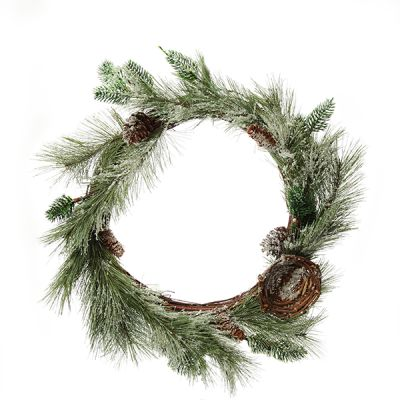 Frosted Green Leaf Wreath