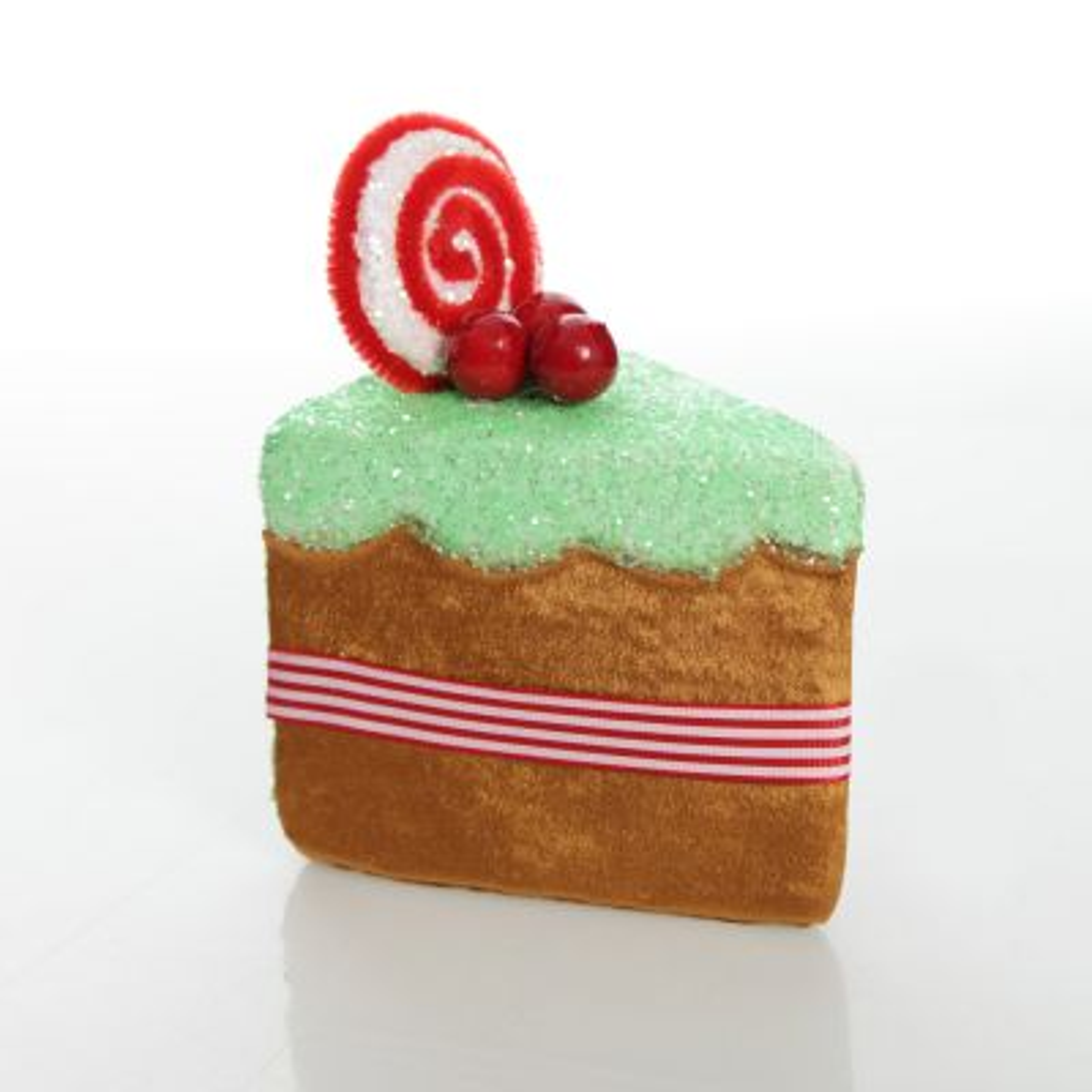 Gingerbread Velvet Cake Slice Christmas Tree Decoration