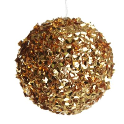 Gold Glitter Sparkle Bauble - Large - Whole product