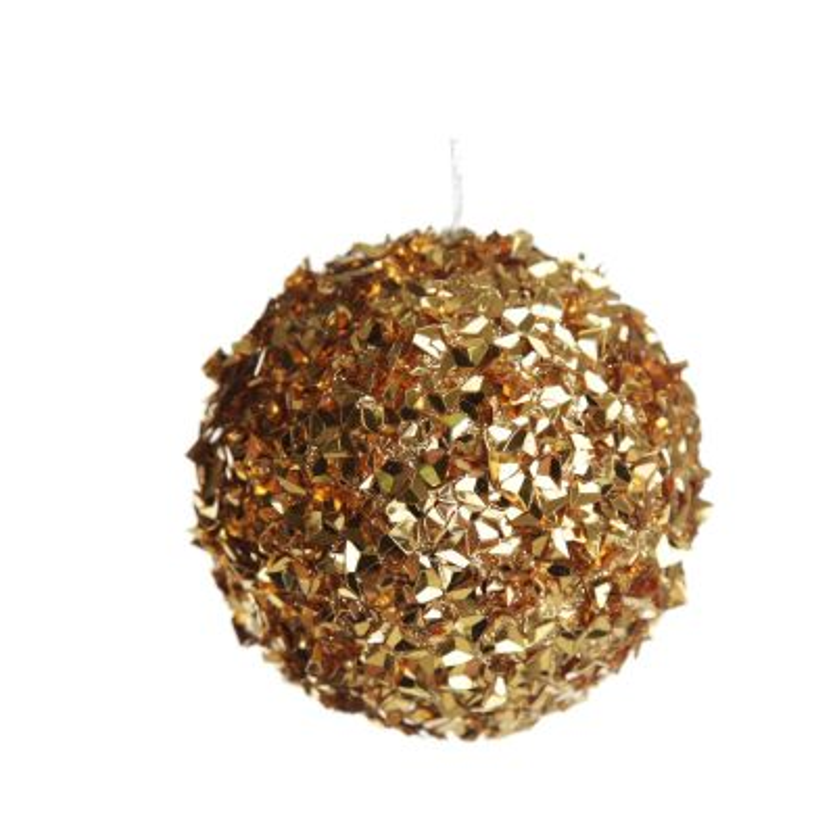 Gold Glitter Sparkle Bauble - Medium