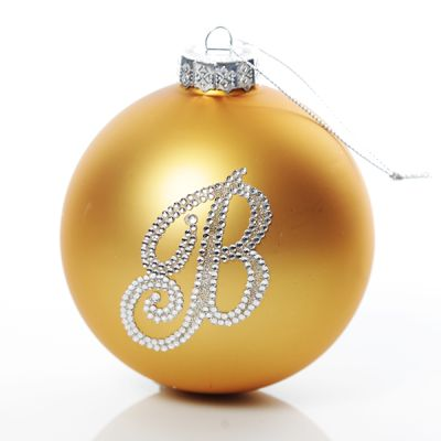 Gold Bling Monogram Christmas Bauble Whole product