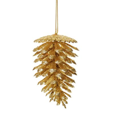 Gold Glitter Faux Pinecones Whole product