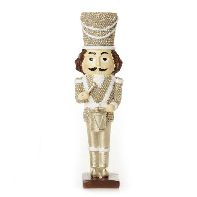 Royal Gold and White Nutcracker with Drum