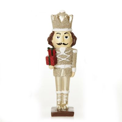 Royal Gold and White Nutcracker with Presents