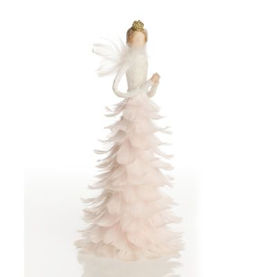 Graceful Standing Pink Feather Angel