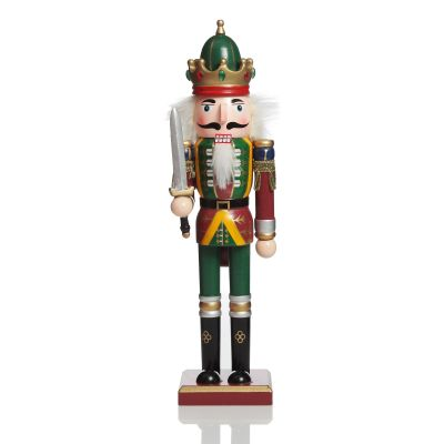 Green Nutcracker with Sword Christmas Ornament - Large