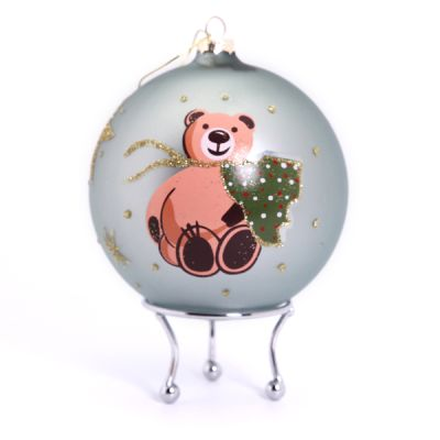 Personalised Bear with Christmas Tree Bauble