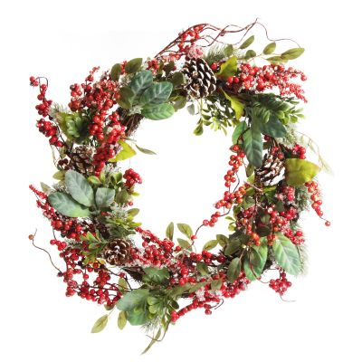 Iced Red Berry Wreath