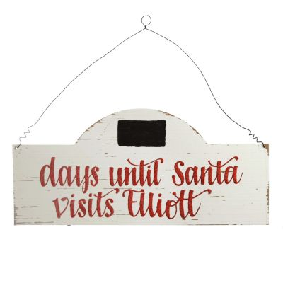 Countdown to Christmas Wood Plaque