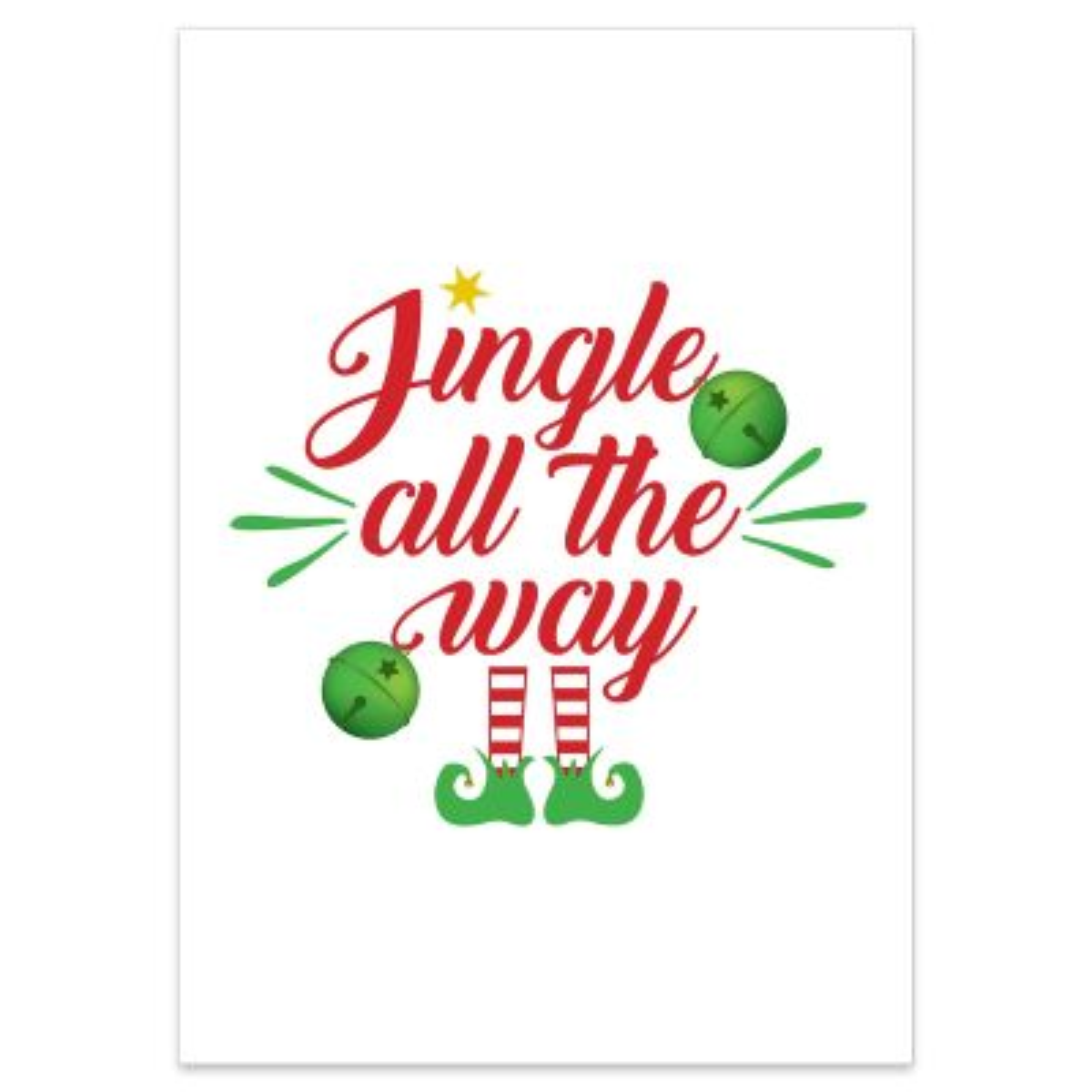 Jingle all the way Poster Print
