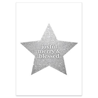 Joyful Merry and Blessed Christmas Poster
