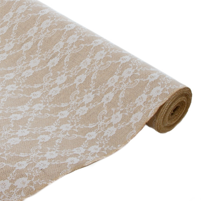 Jute & Lace Natural Roll