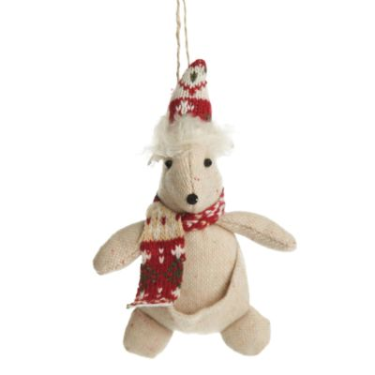 Kangaroo Fabric Hanging Christmas Tree Decoration