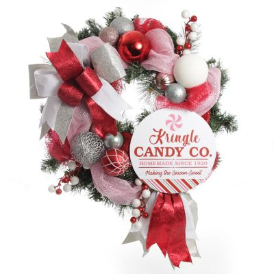 Limited Edition Peppermint Candy Christmas Wreath