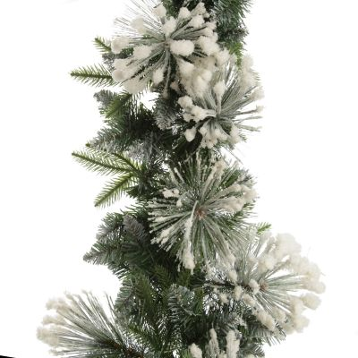 Lush Flocked Green Pine Christmas Garland